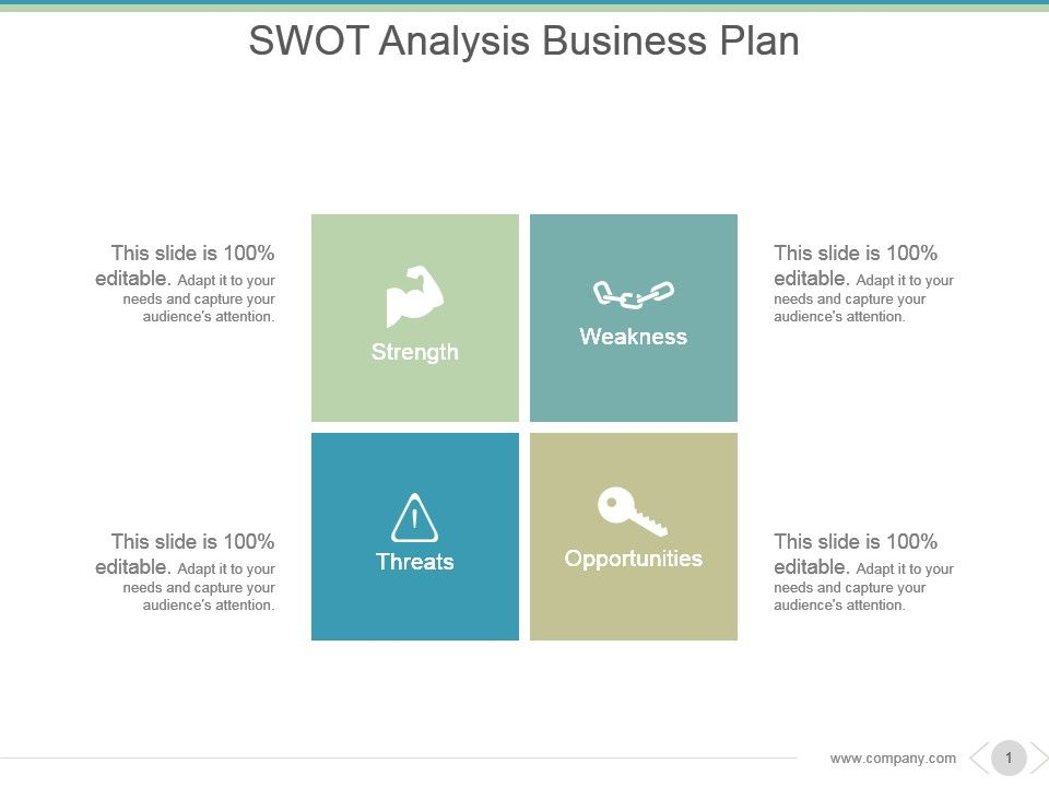 Swot Analysis Business Plan Powerpoint Slide Show PowerPoint - business swot analysis