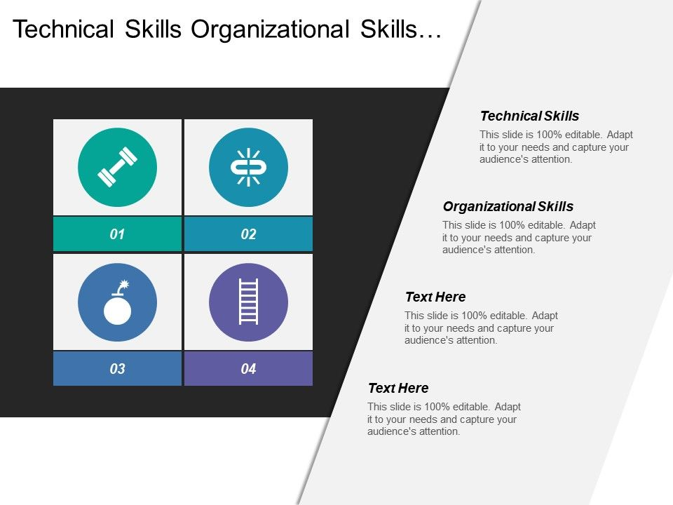 Technical Skills Organizational Skills Leadership Skills Analytical