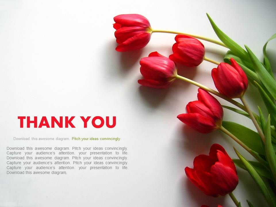 Thank You Slide With Flowers Powerpoint Slides PowerPoint