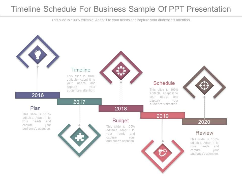 Timeline Schedule For Business Sample Of Ppt Presentation - sample business timeline