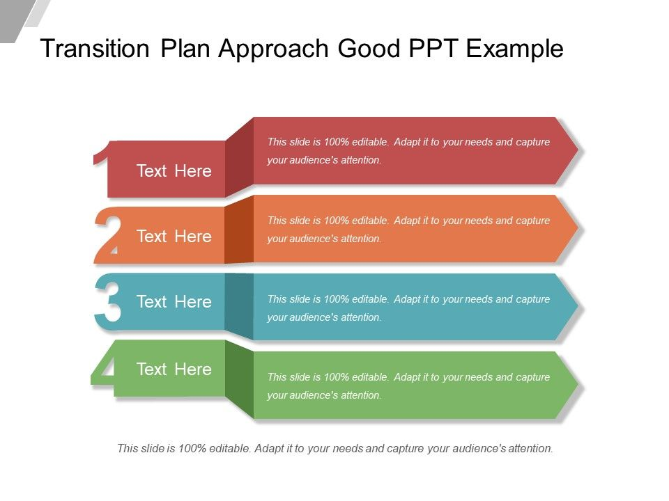 Transition Plan Approach Good Ppt Example Presentation PowerPoint