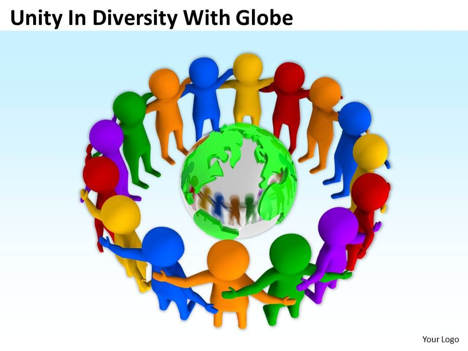 Unity In Diversity With Globe Teamwork Ppt Graphics Icons Powerpoint - teamwork powerpoint