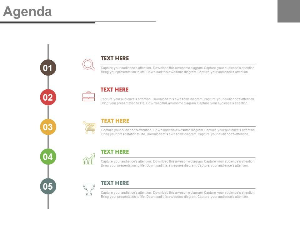 Vertical Timeline For Business Agenda And Growth Powerpoint Slides