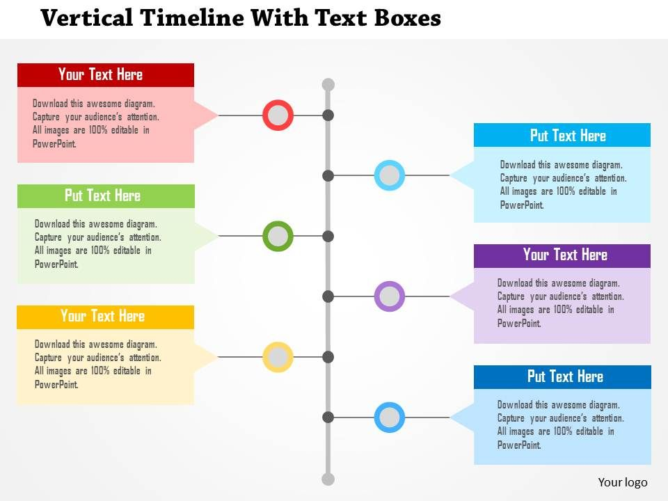 Vertical Timeline With Text Boxes Flat Powerpoint Design Templates - powerpoint timeline