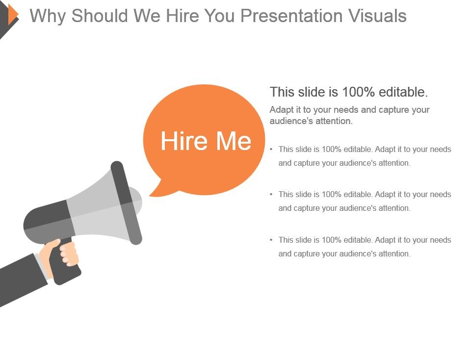 Why Should We Hire You Presentation Visuals PowerPoint