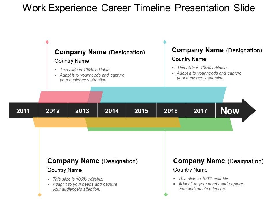 Work Experience Career Timeline Presentation Slide Presentation