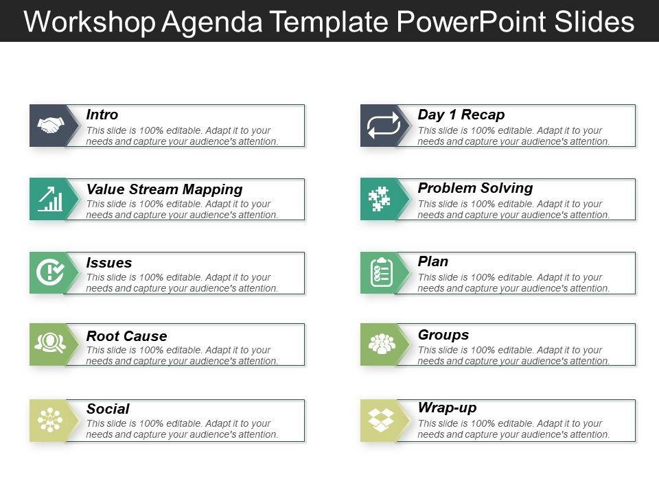 Workshop Agenda Template Powerpoint Slides PowerPoint Design