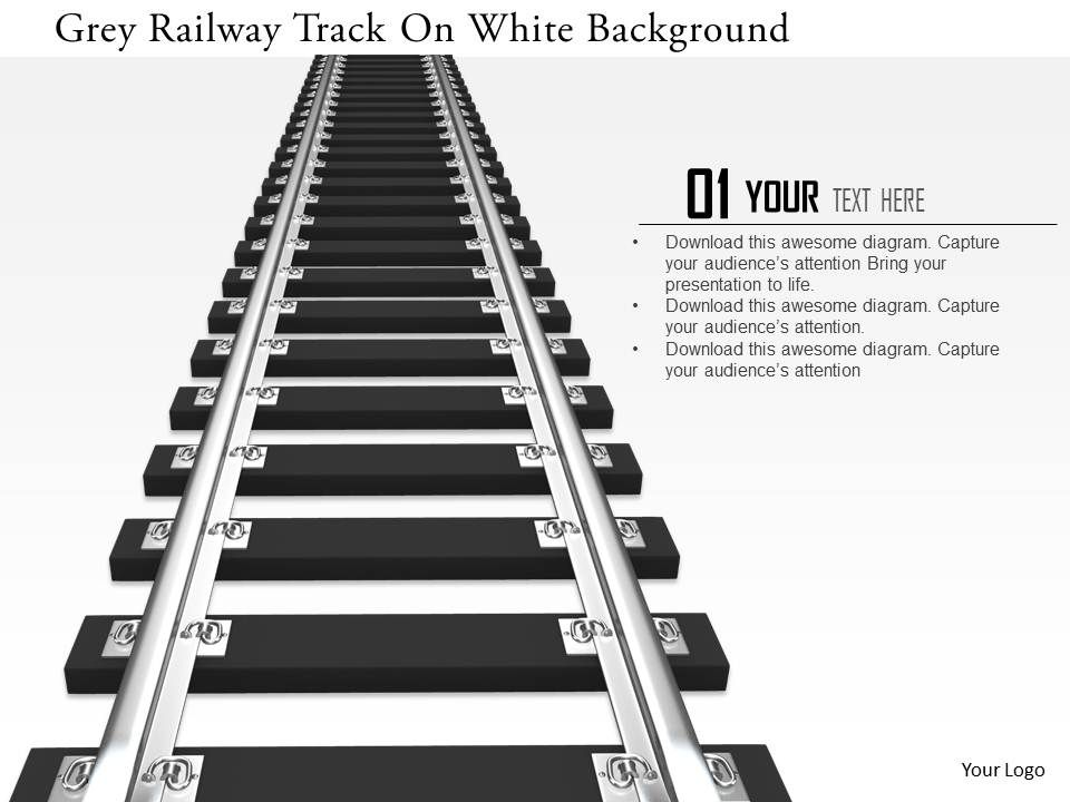 0115 Grey Railway Track On White Background Image Graphics For