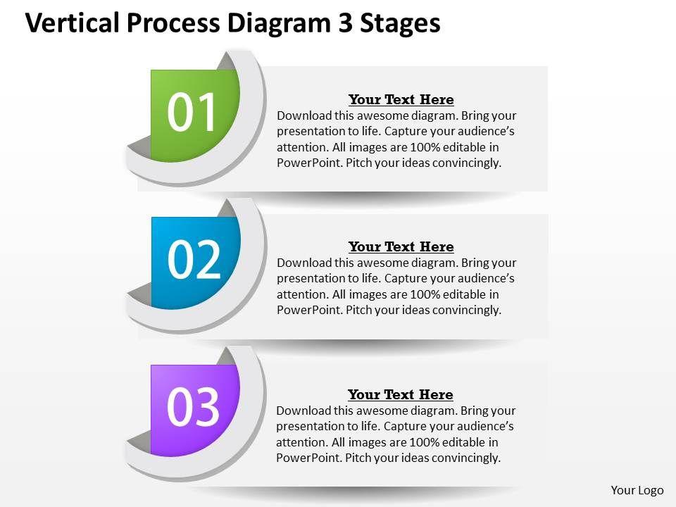 0314 Business Ppt Diagram Vertical Process Diagram 3 Stages