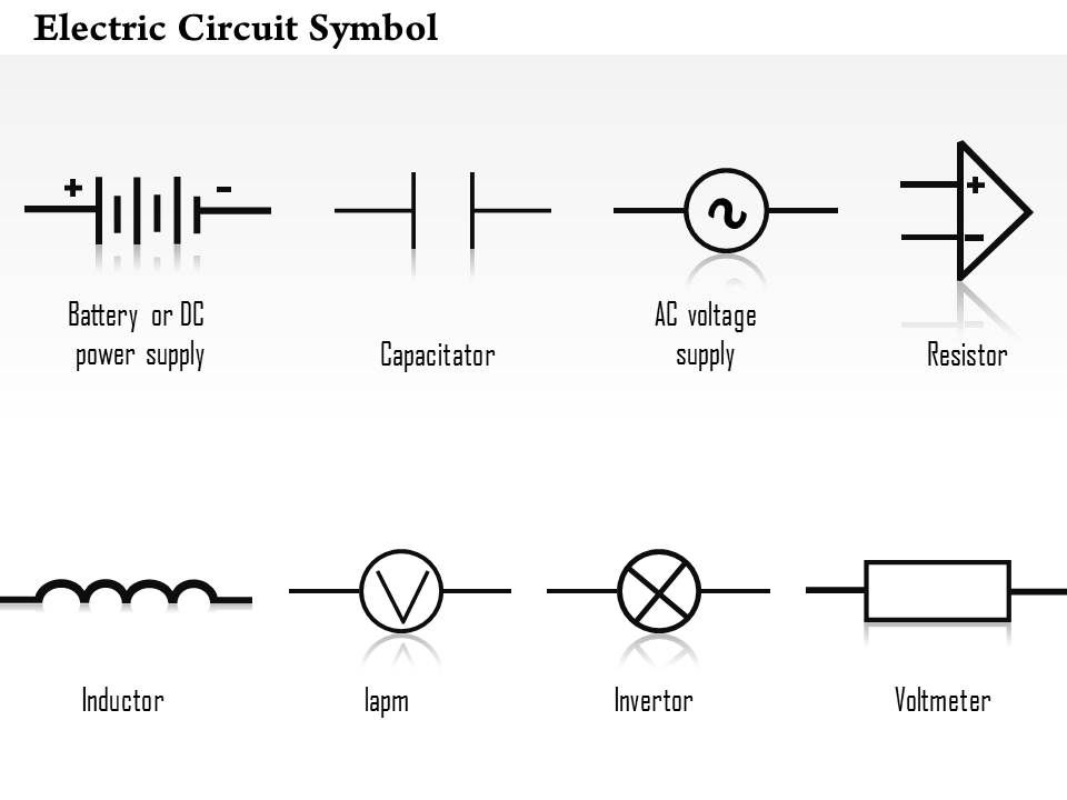 0814 Electric Circuit Symbol Diagrams Capacitor Resistor Inductor