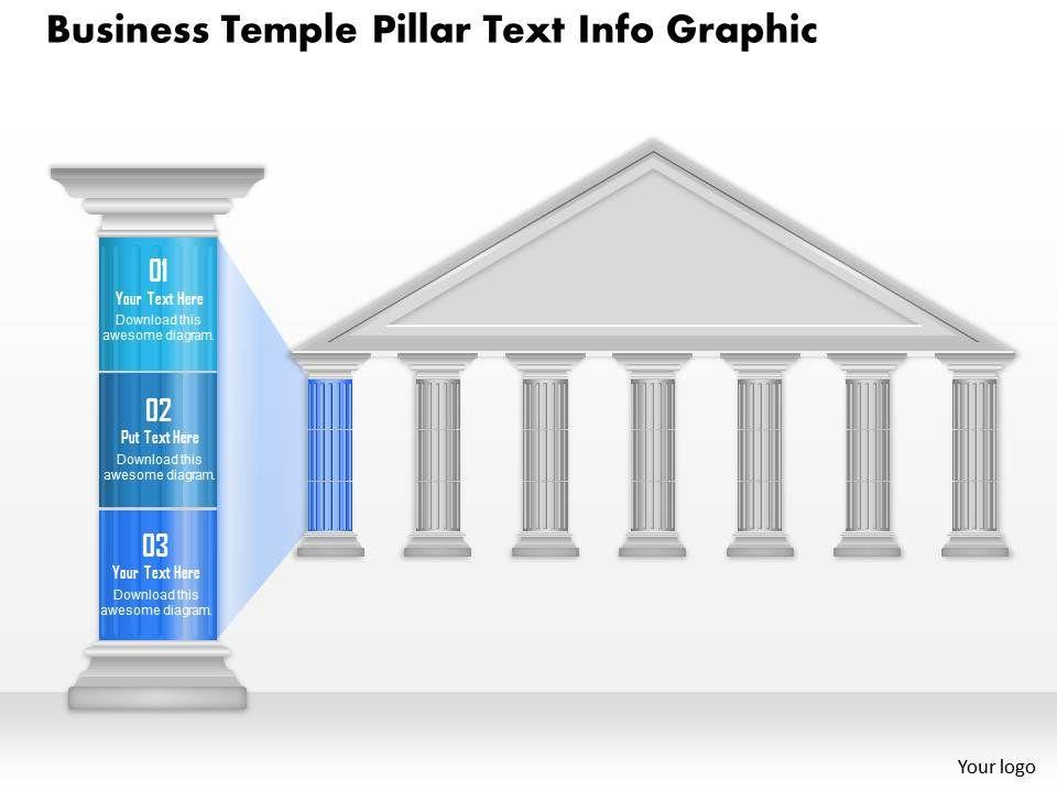0914 Business Plan Business Temple Pillar Text Info Graphic