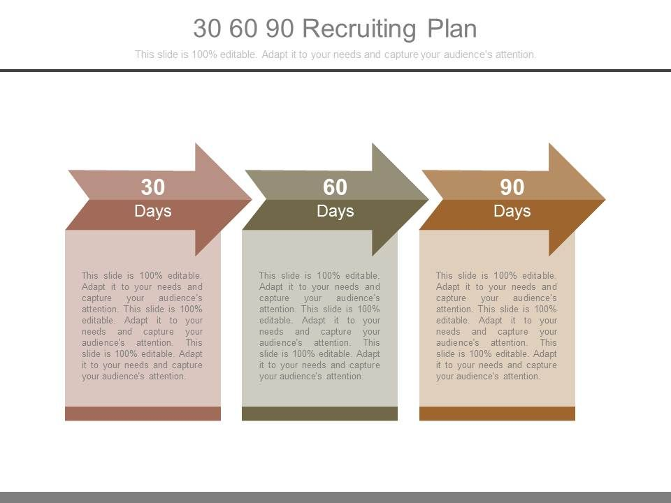 30 60 90 Recruiting Plan Powerpoint Templates PowerPoint Templates