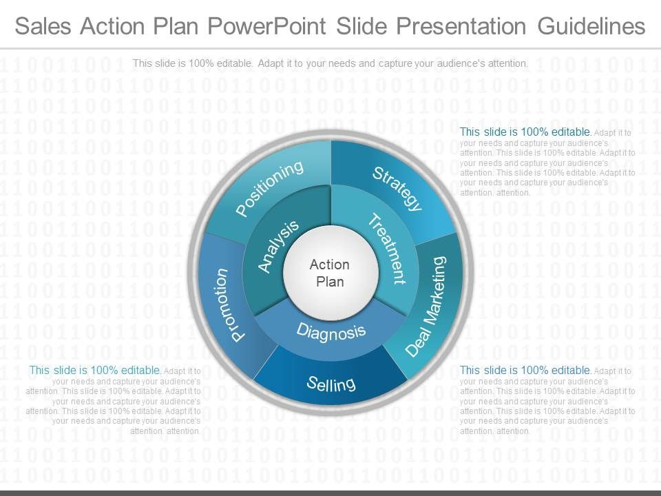 A Sales Action Plan Powerpoint Slide Presentation Guidelines PPT