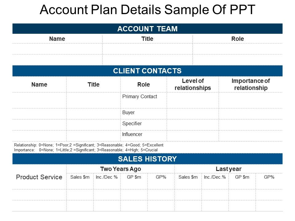Account Plan Details Sample Of Ppt PowerPoint Presentation Images