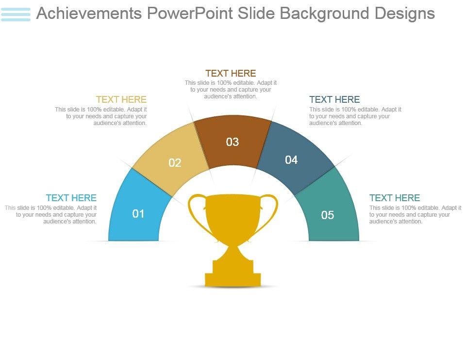 Achievements Powerpoint Slide Background Designs PowerPoint
