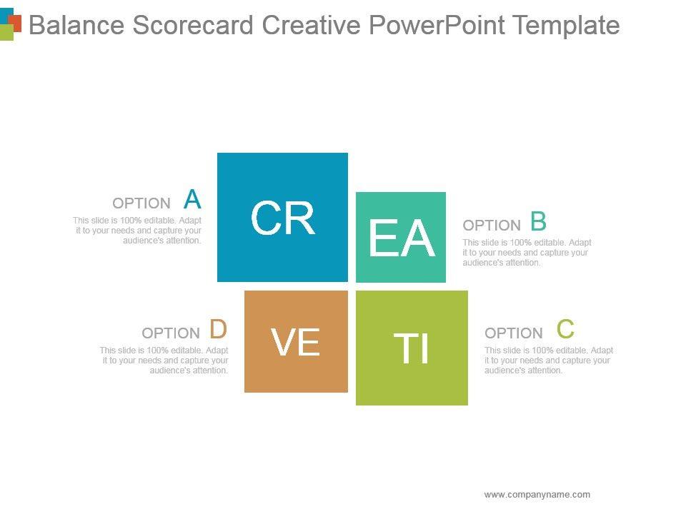 Balance Scorecard Creative Powerpoint Template Graphics