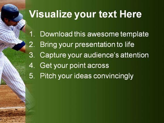 Baseball Sports PowerPoint Template 0610 PowerPoint Templates