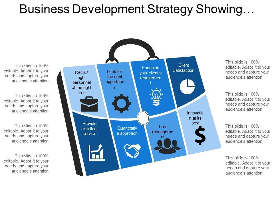Business Development Strategy Showing Quantitative Approach Client