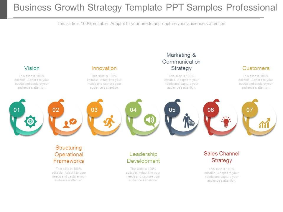 Business Growth Strategy Template Ppt Samples Professional