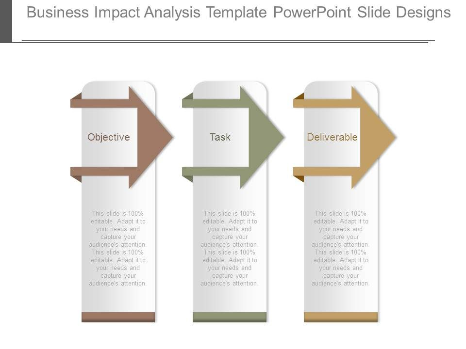Business Impact Analysis Template Powerpoint Slide Designs