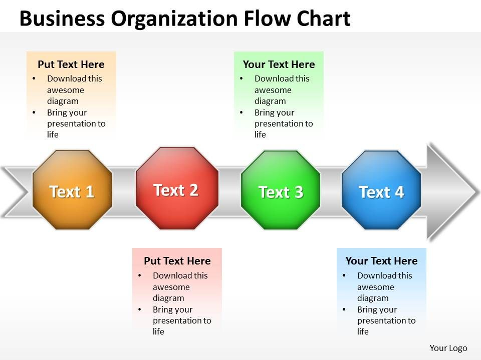 Business PowerPoint Templates organization flow chart Sales PPT