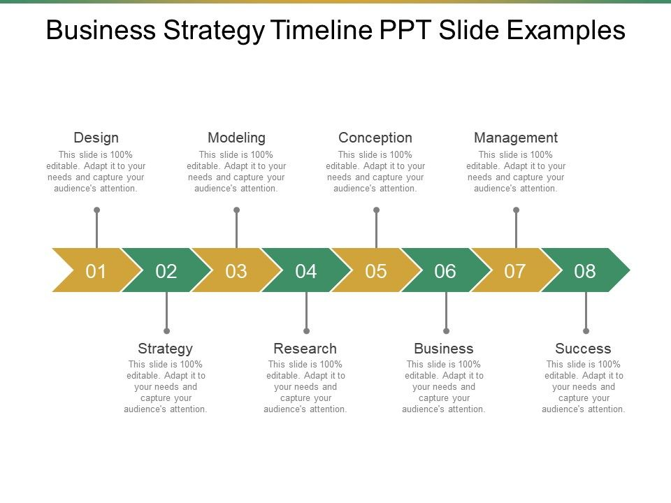 Business Strategy Timeline Ppt Slide Examples PowerPoint