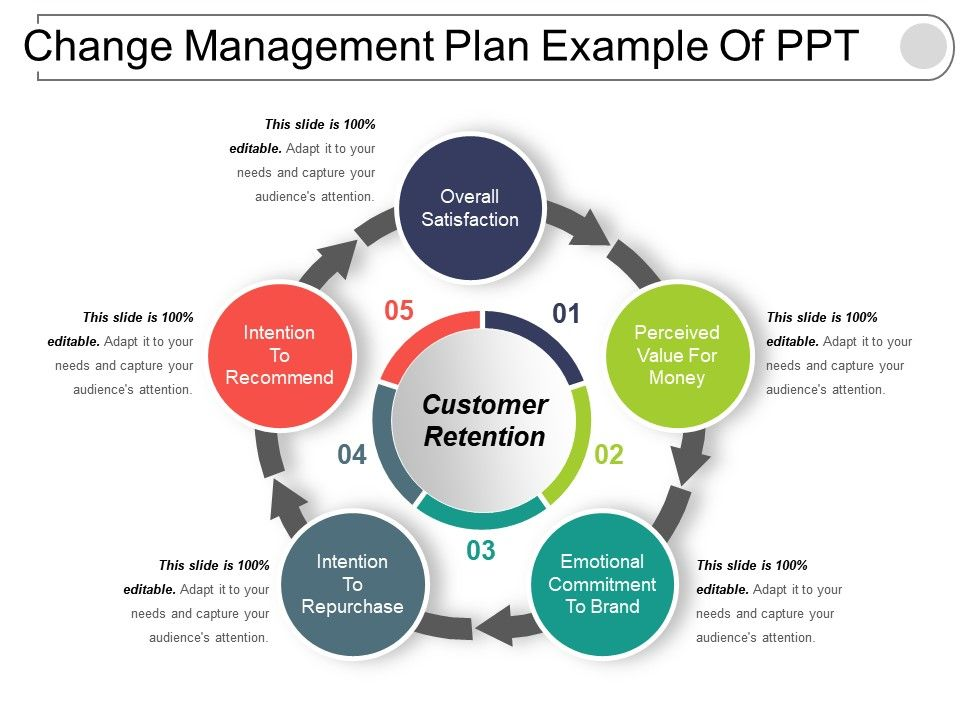 Change Management Plan Example Of Ppt Templates PowerPoint Slides