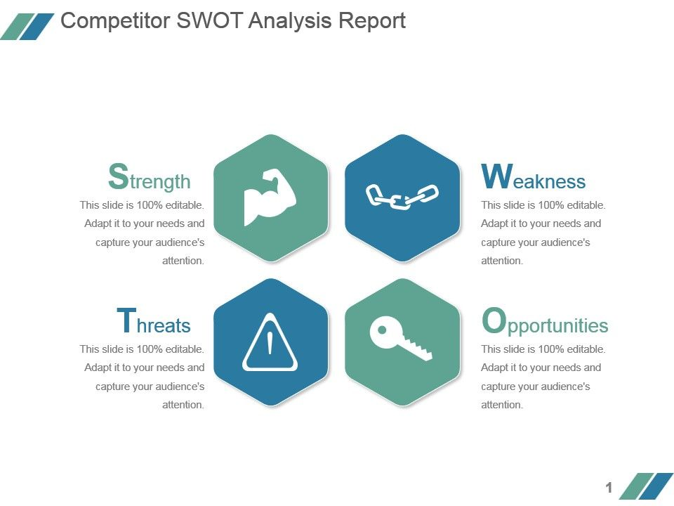 Competitor Swot Analysis Report Powerpoint Slide PowerPoint
