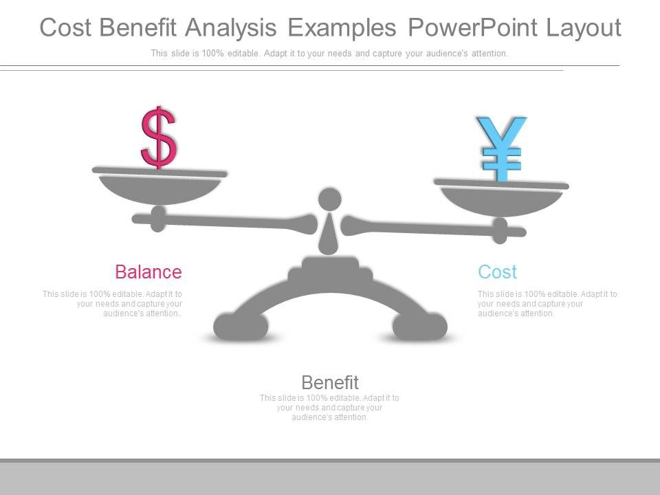 Cost Benefit Analysis Examples Powerpoint Layout PowerPoint