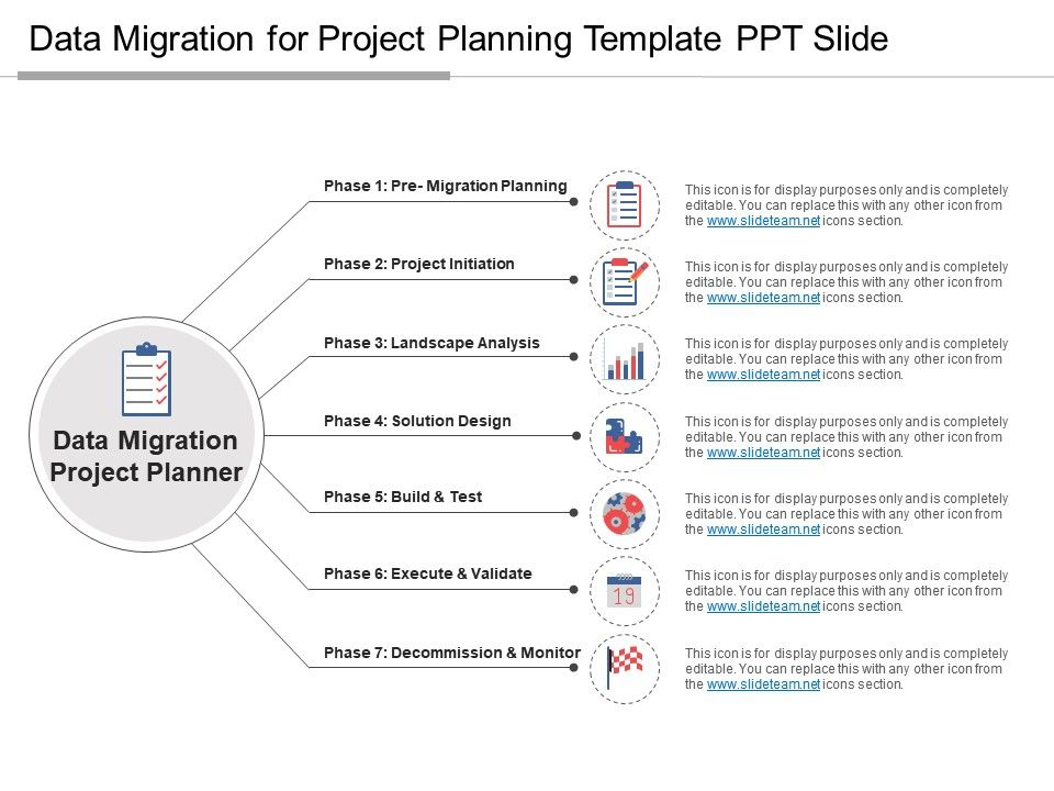 Data Migration For Project Planning Template Ppt Slide PowerPoint