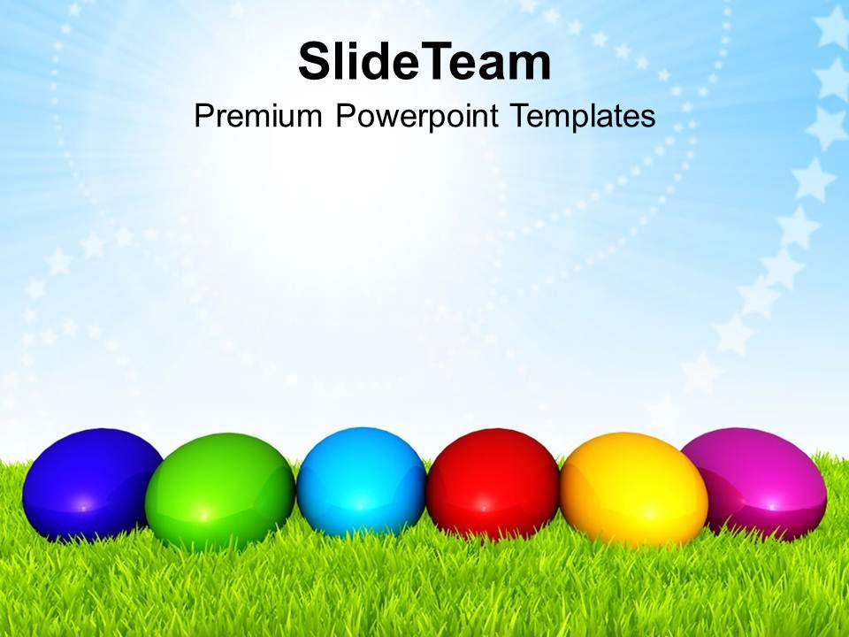 Easter Holiday Different Color Of Powerpoint Templates Ppt