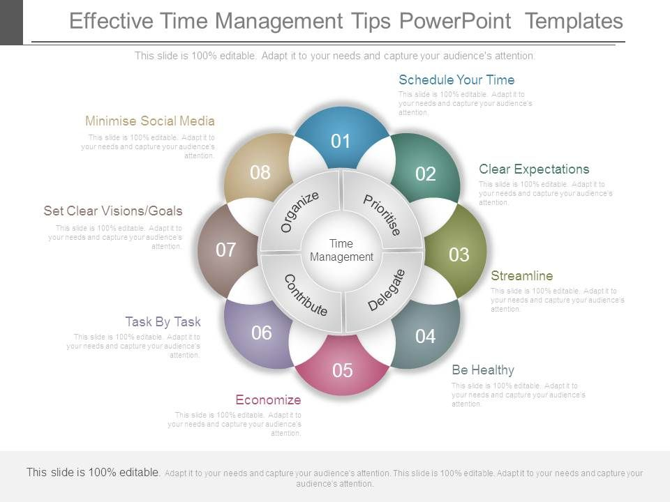 Effective Time Management Tips Powerpoint Templates PowerPoint