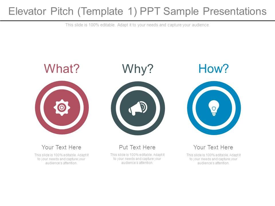 Elevator Pitch Template1 Ppt Sample Presentations PowerPoint Slide