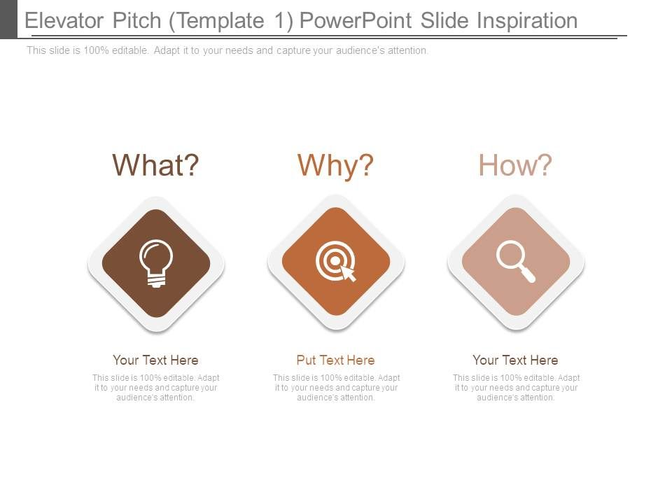 Elevator Pitch Template 1 Powerpoint Slide Inspiration PowerPoint