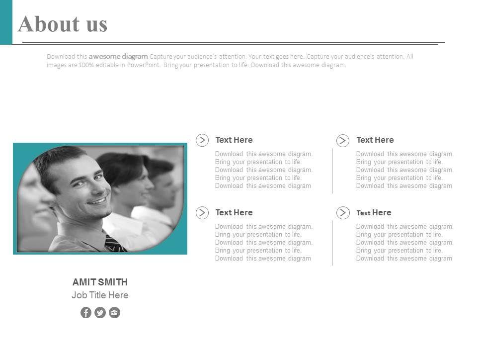 Employee Profile For Social Media Communication Powerpoint Slides