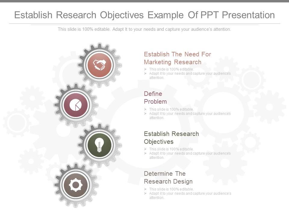 Establish Research Objectives Example Of Ppt Presentation