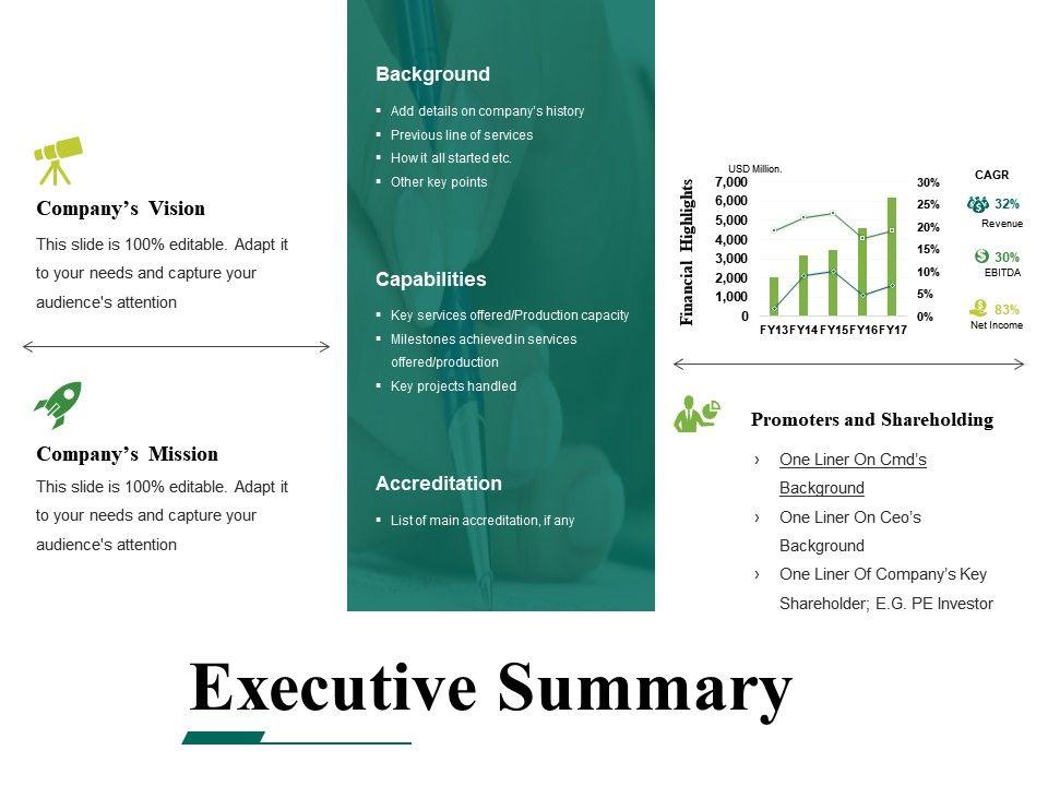 Executive Summary Powerpoint Templates Microsoft PowerPoint