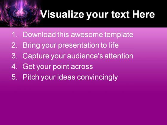 Futuristic Purple With Blue Background PowerPoint Templates And