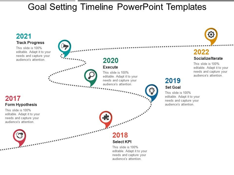 Goal Setting Timeline Powerpoint Templates PowerPoint Templates