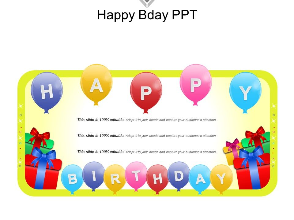 Happy Bday Ppt PowerPoint Presentation Templates PPT Template