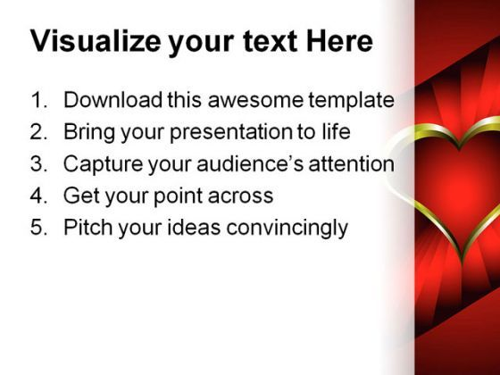 Heart Wedding PowerPoint Template 0610 Presentation PowerPoint