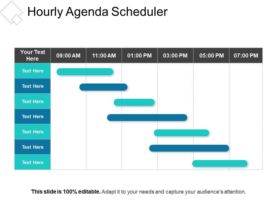 Hourly Agenda Scheduler Presentation Slides PowerPoint Slide