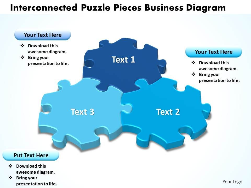 Interconnected Puzzle Pieces Business Diagram Powerpoint templates