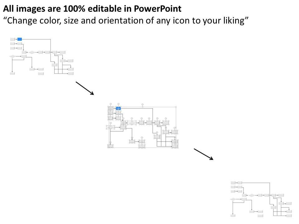 jf Swimlane Flow Chart For Process Improvement Powerpoint Template