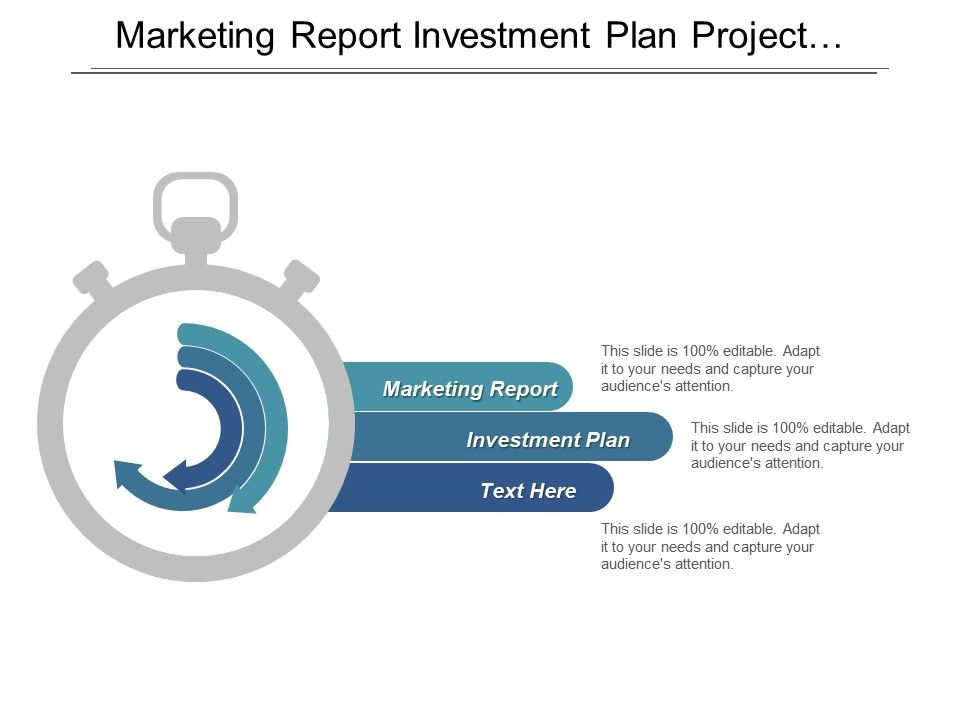 Marketing Report Investment Plan Project Management Financial