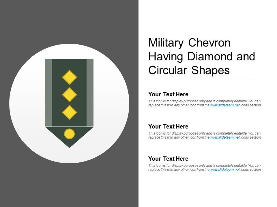 Military Chevron Having Diamond And Circular Shapes PowerPoint