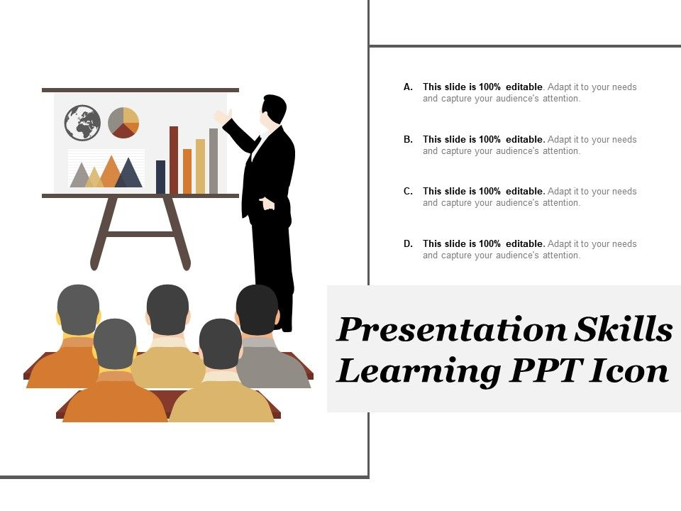 Presentation Skills Learning Ppt Icon Graphics Presentation
