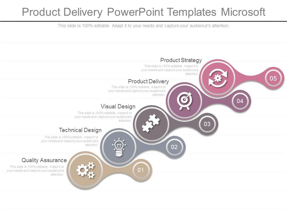 Product Delivery Powerpoint Templates Microsoft PowerPoint Design