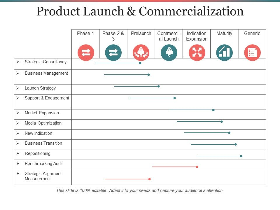 Product Launch And Commercialization Ppt Infographics PowerPoint