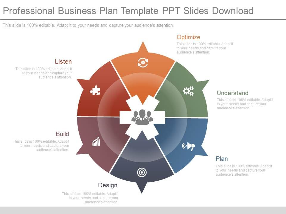Professional Business Plan Template Ppt Slides Download
